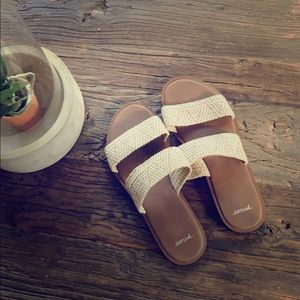 Sanuk slide on gora gora sandals sz 8 women